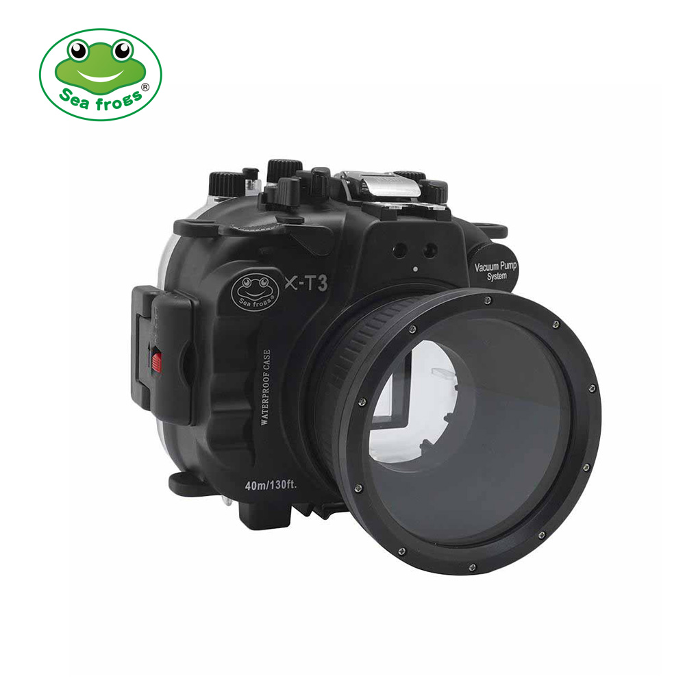 seafrogs 40M/130FT Underwater camera housing for Fujifilm X-T3(Black)