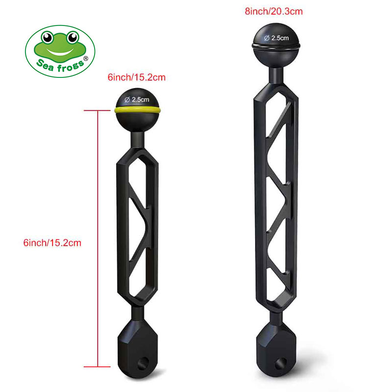 "6""8"" inch Aluminum Alloy Ball & YS Head Adapter Arm"