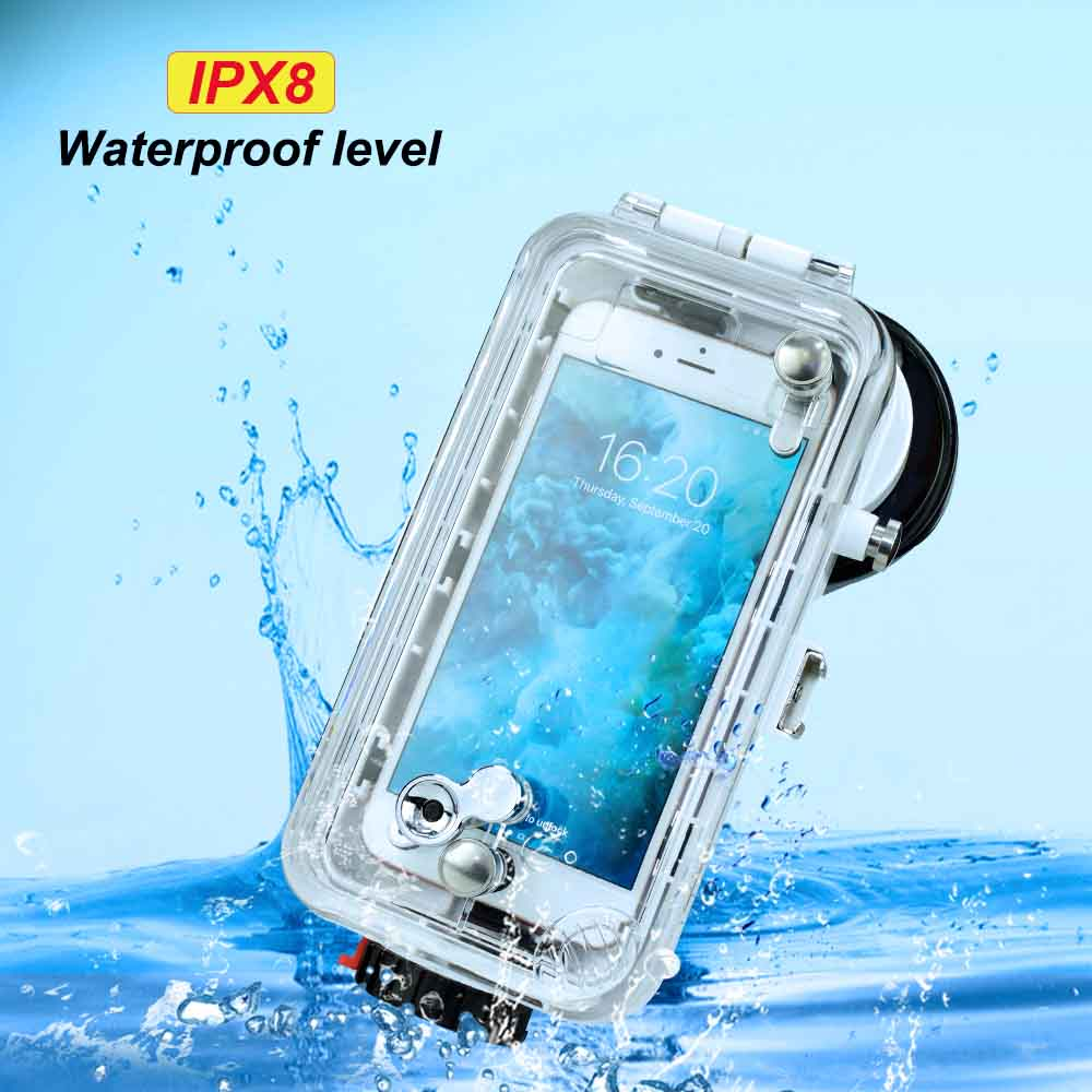 60m/195ft SeaFrogs Underwater Case 5.5 inch For iPhone 6 & 7 & 8 Plus